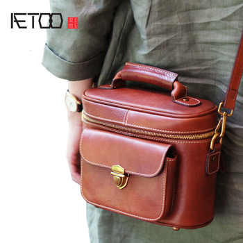 AETOO Leather retro doctor bag handmade leather shoulder bag brown bucket bag handbag personalized ethnic diagonal package - DISCOUNT ITEM  50% OFF All Category