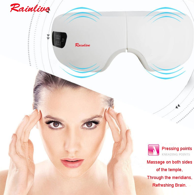 Eyes SPA Music SPA Electric Air pressure Eye massager . Wireless Vibration Magnetic heating therapy massage device. 25