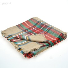 Women Winter Keep Warm Scarf Infinity Blanket Long Shawl Plaid Check Tartan Scarf Wrap