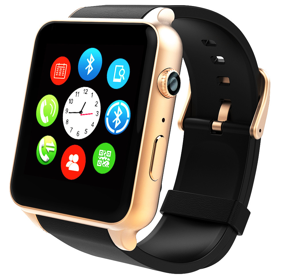 Montre intelligente GT88 Plus horloge Sync notifiant Support carte Sim connectivité Bluetooth téléphone Android Smartwatch montre en alliage