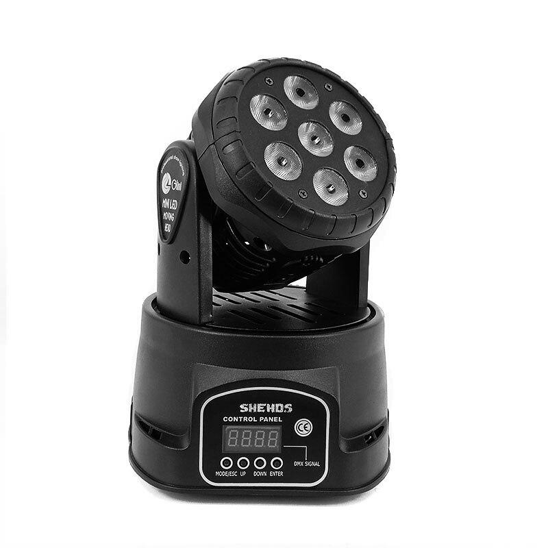 Светодиодный осветитель с 7 шутками ламп на 12Вт, 14 канальный эффект света. Бесплатная доставка.