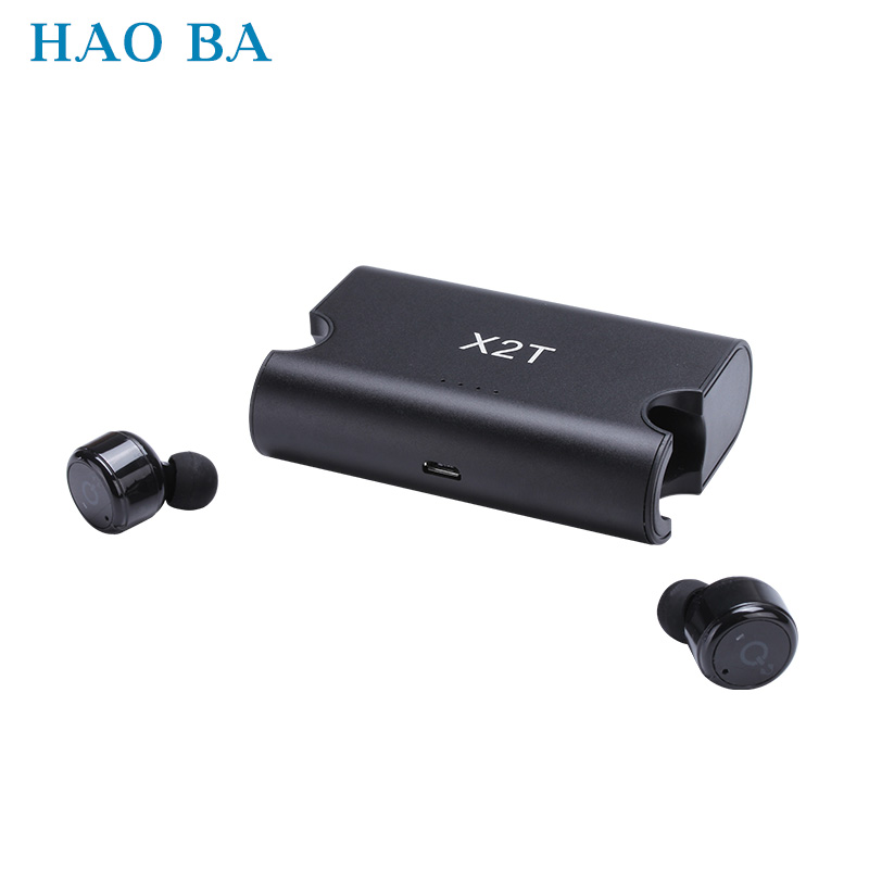 Business Earphones Wireless Bluetooth Earphone 3D Stereo Headsets with Microphone for Iphone Android phones Mini Invisible X2T top mini sport bluetooth earphone for asus zenfone 3 ze552kl earbuds headsets with microphone wireless earphones