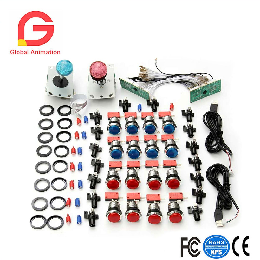 Rapture Diy Kit Sanwa Joystick Zippy Joystick American Joystick Push Button 30mm Led Push Button Micro Switch Coin Operated Games Entertainment