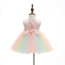 2019 Newborn Girls Dress Baptism Chtistening gown Baby Girl Rainbow Dresses for Toddler 1 Years Birthday dresses girls