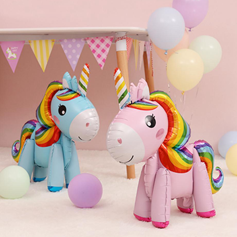 57cm Rainbow Unicorn Balloons For Unicorn Birthday Balloon Party 8