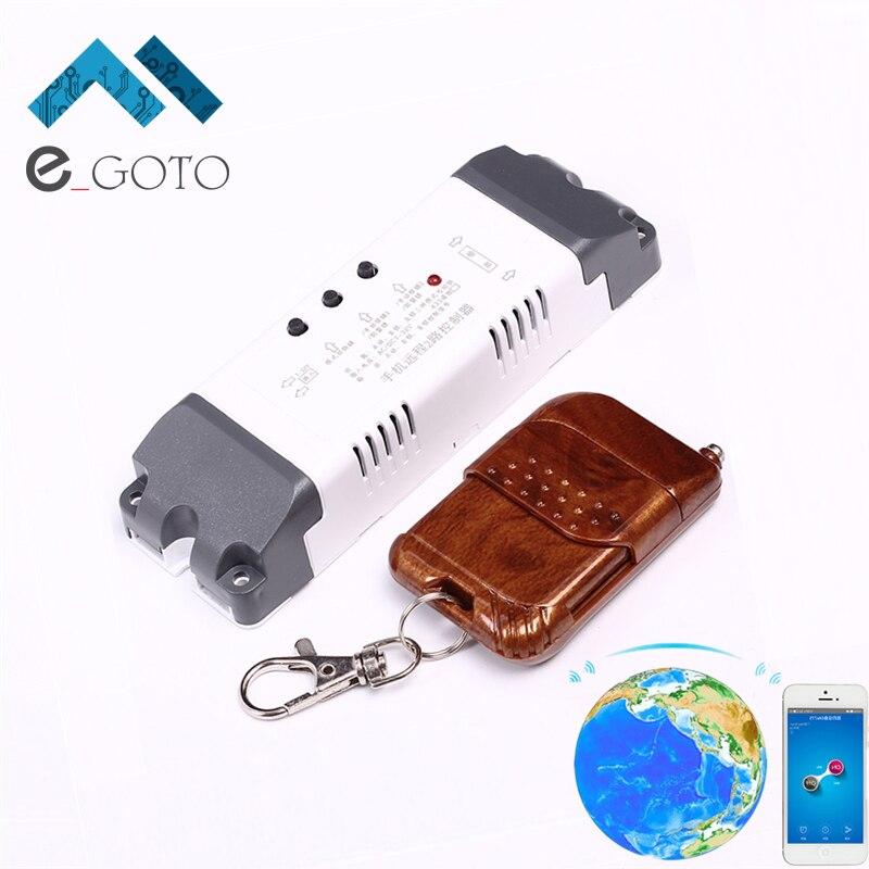 7-32 V 2 Canal Wifi Relais Commutateur Module + 433 MHz Mondiale Télécommande Inching Auto-Verrouillage verrouillage Pour Android IOS Smart Home
