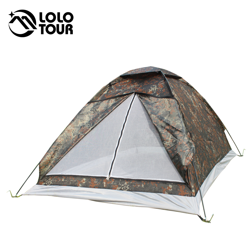 Outdoor Portable Military Canvas Beach Camouflage Tent 2 Person Travel Hiking UV resistant Bivvy Tenda Tente C&ing Equipment-in Tents from Sports ...  sc 1 st  AliExpress.com & Outdoor Portable Military Canvas Beach Camouflage Tent 2 Person ...