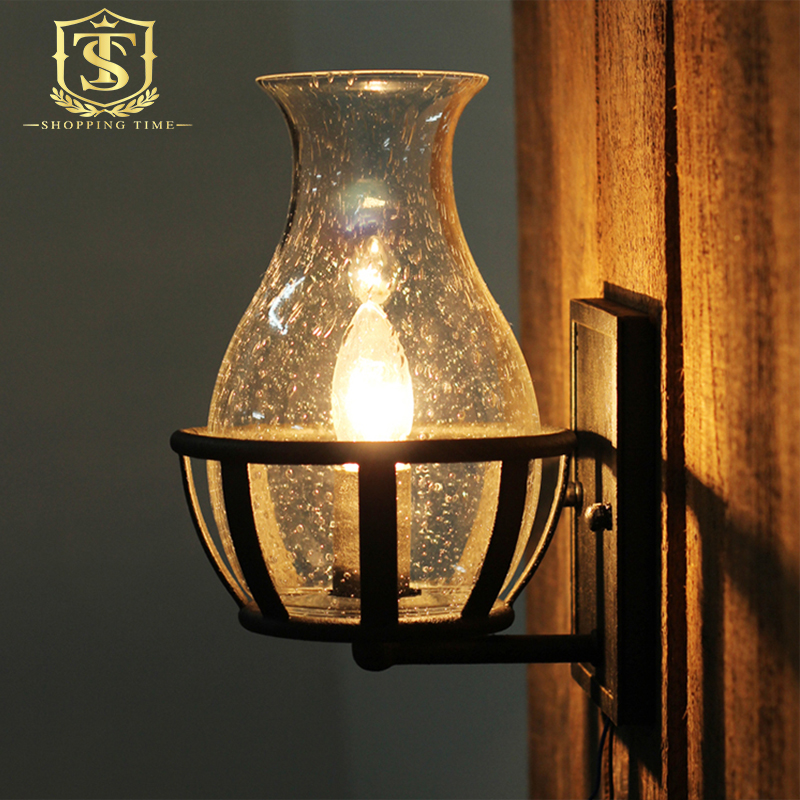 Vase Glass Wall Sconces