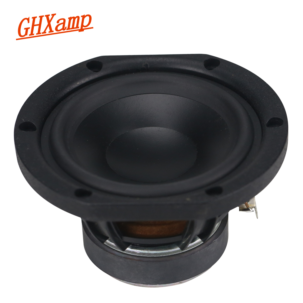 GHXAMP 5 inch MID Bass speaker unit 6ohm 30W Mediant Woofer loudspeaker Composite Basin rubber edge 1pc ghxamp 3 inch 4ohm 30w midrange speaker car speaker mid human voice sound good loudspeaker for lg diy 2pcs