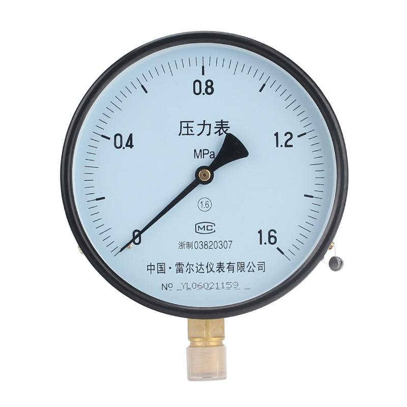 LEIERDA General pressure gauge Gas pressure meter Kpa meter water pressure meter  oil pressure meter Y-150  (0-160Mpa) 1pc brass argon co2 gas pressure regulator mig tig welding flow meter gauge w21 8 1 4 thread 0 20 mpa