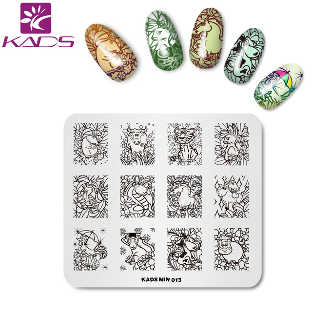 KADS MIN 12 Chinese Zodiacs animal nail stamp nail art template ...