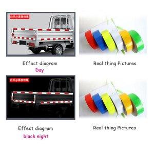 Image 2 - Auto Auto Stickers 3M * 5 Cm Decal Waarschuwing Tape Reflecterende Strips Auto Styling Lijm Honingraat Veiligheid Mark auto Veiligheid Producten