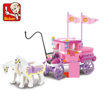 137Pcs Gadis Princess Royal Carriage Wagon Blok Bangunan Set Kuda Castle Angka Legoingls Batu Bata Friends Kids Mainan untuk Anak Perempuan(China)