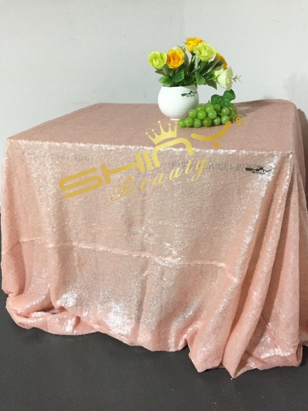 Румяна розовый 90x132 дюймов блесток скатерть, 8x9ft блесток фон, 12x108 блесток Настольная дорожка Комбинации для продажи