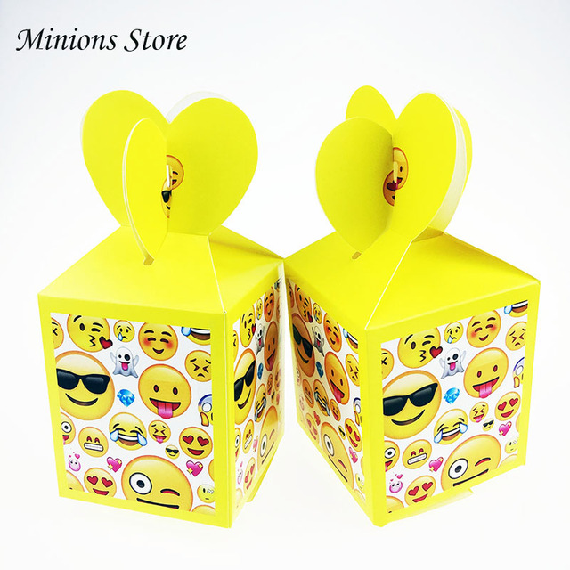 6pcs/lot Smiley face Funny printed Emoji Candy Bag Kids Birthday Party Decoration Paper Gift Boxes Baby Shower Supplies  sc 1 st  AliExpress & 6pcs/lot Smiley face Funny printed Emoji Candy Bag Kids Birthday ...
