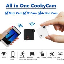 C1 minicâmera ip camcorder, wi fi p2p, com sensor de movimento, clipe magnético hd 720p, áudio de vídeo gravador h.264 micro câmera