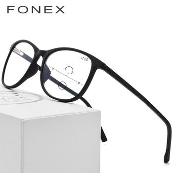TR90 Reading Glasses Women Round Computer Presbyopic Eyewear Multifocal Progressive Eyeglasses Anti Blue Light Glasses Men