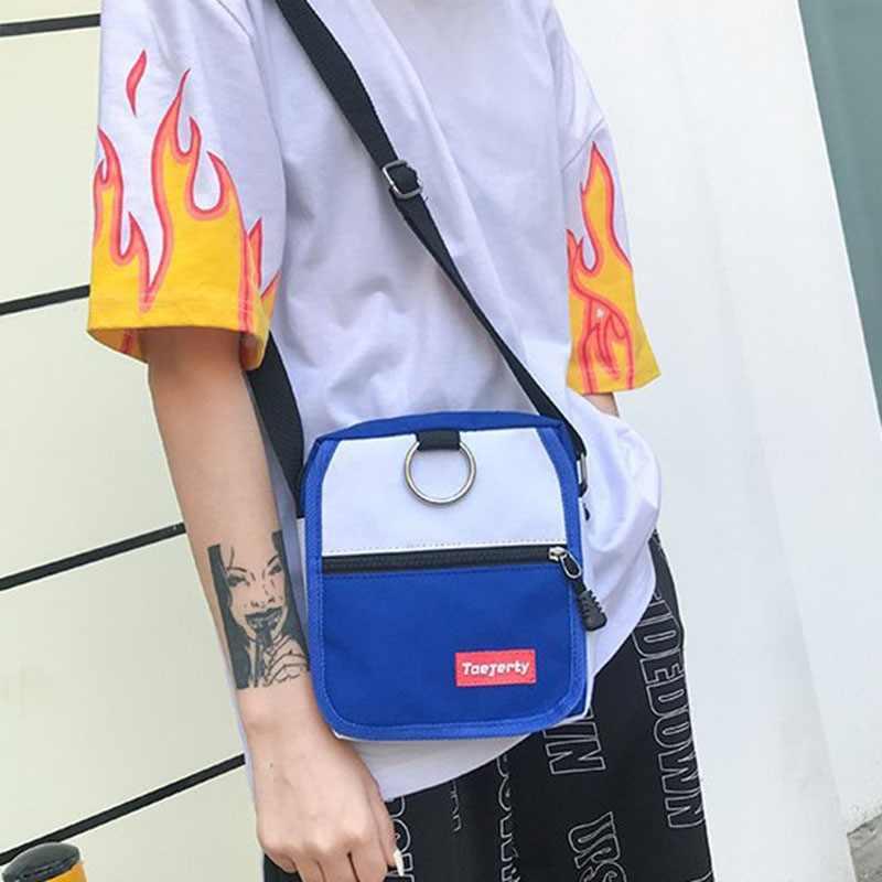 2019 kobiety dorywczo dziewczyny moda Hot sprzedaży neutralne płótno stałe ramię torba projektant zewnątrz torby kurierskie crossbody