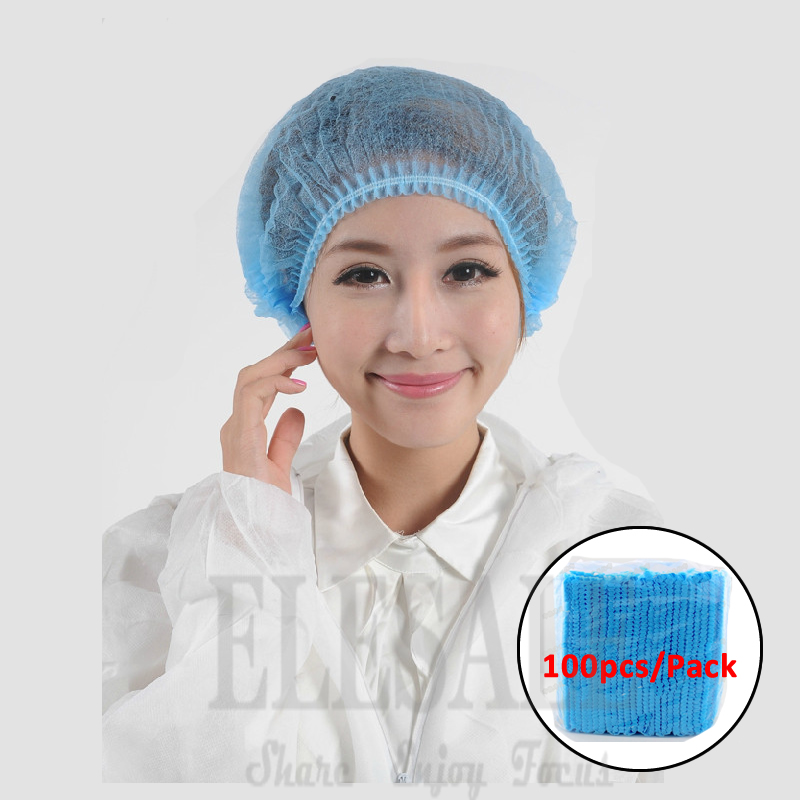 100Pcs/Pack Disposable Nonwovens Protective Hat/Cap Work Safety For Beauty Salon Food Processing Hat Spary Painting Decorating