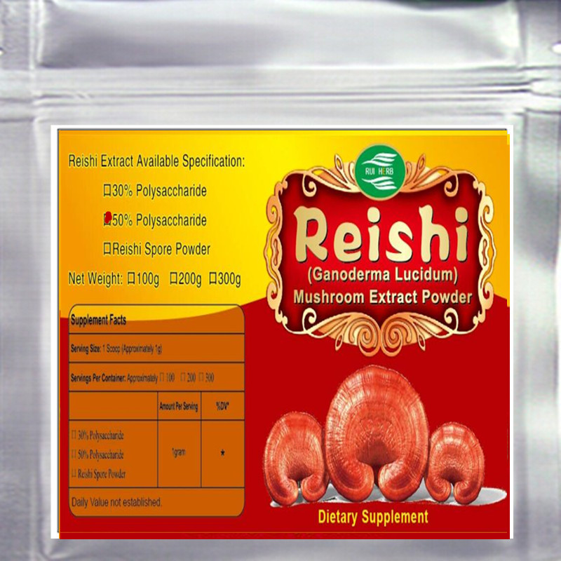 300gram Nature Reishi Extract 50 Polysaccharides Powder free shipping