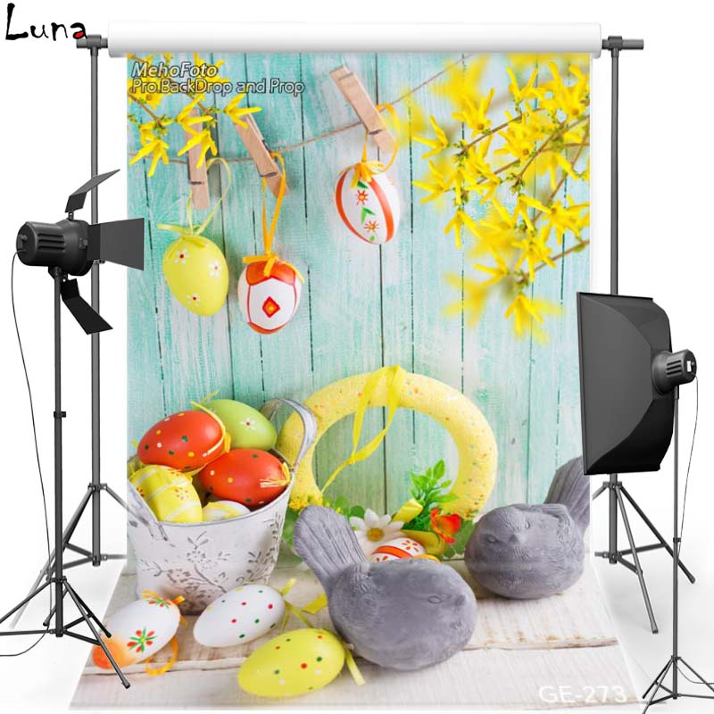 MEHOFOTO Happy Easter Vinyl Photography Background For Wood Wall Egg New Fabric Flannel Backdrop For photo studio Props 273 shengyongbao 300cm 200cm vinyl custom photography backdrops brick wall theme photo studio props photography background brw 12