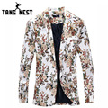 Blazer Men 2017 Fashion Floral Personality Design Casual Men's Blazer Terno Masculino Slim Comfortable Men Blazer MWX338