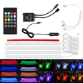 Car RGB LED Strip Light Music Control LED Strip lights 7 Colors Car Styling Atmosphere Lamps Car Interior Light With Remote