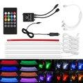 RGB Tira de Luz LED de Control de la Música del coche luces de Tira LLEVADAS 7 Colores Car Styling Ambiente Lámparas de Coches Luz Interior Con remoto