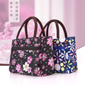 2017 Korean New Lunch Bag Flowers Storage Box Insulated Pouch Picnic Tote High Quality Free Shipping Mommy Bag