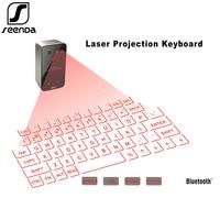 SeenDa Portable Bluetooth Wireless Virtual Laser Keyboard Mini Bluetooth Projection Keyboard for iPhone Android iPad Tablet