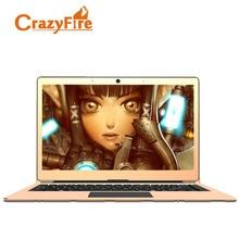CrazyFire бренда ноутбук n3450 13.3 дюймов офисный ноутбук Computador Quad Core 1920*1082 Золотой Игровые ноутбуки 6 ГБ оперативной памяти