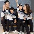 Filho Pai Mãe Filha casuais T-shirt Dos Desenhos Animados Impressão Moletom Família Combinando Roupas Família Set Mulheres Homens Kid Tee GB6
