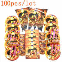 100PCS Disney The Incredibles 2 Theme Supplies Set For Kids Boy Birthday Party Decor Supplies Plates Cups Flags Straws Napkins