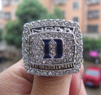 Free Shipping High Quality Fashion 2015 Duke Blue Devils National Championship Ring Men Basketball Fan Gift