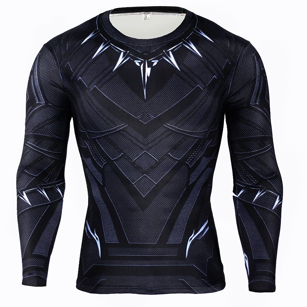 New superhero winter soldier bucky black panther anime 3d t shirt fitness men crossfit t-shirt long sleeve compression shirt-1