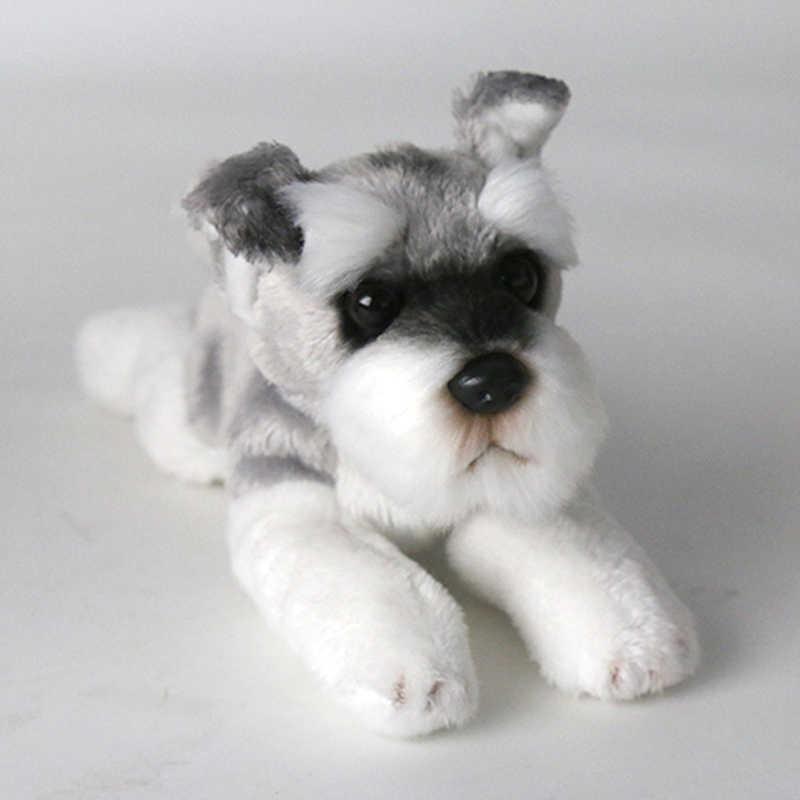 Kawaii шнауцер собака плюшевая игрушка маленькая мягкая имитация детские мягкие игрушки для детей милые фото реквизит подарок на день рождения для девочек