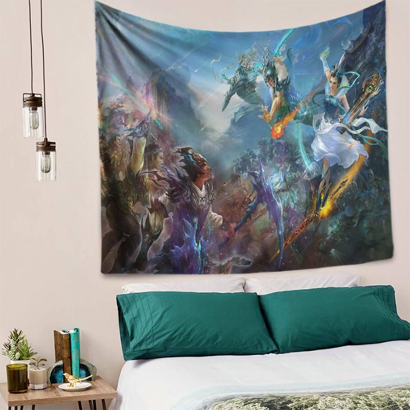 Game Weapons Fantasy Art Wall Tapestry Bohemian Decorative Hippie Wall Handing Tapestries Armor Psychedelic Anime Home Decor New in Tapestry from Home Garden