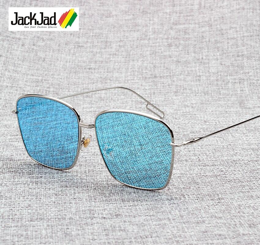 12765219b6 JackJad Fashion Composit 1.1 Oversized Rectangle Style Sunglasses Brand  Design Color Coating Flat Lens Sun Glasses Oculos De Sol