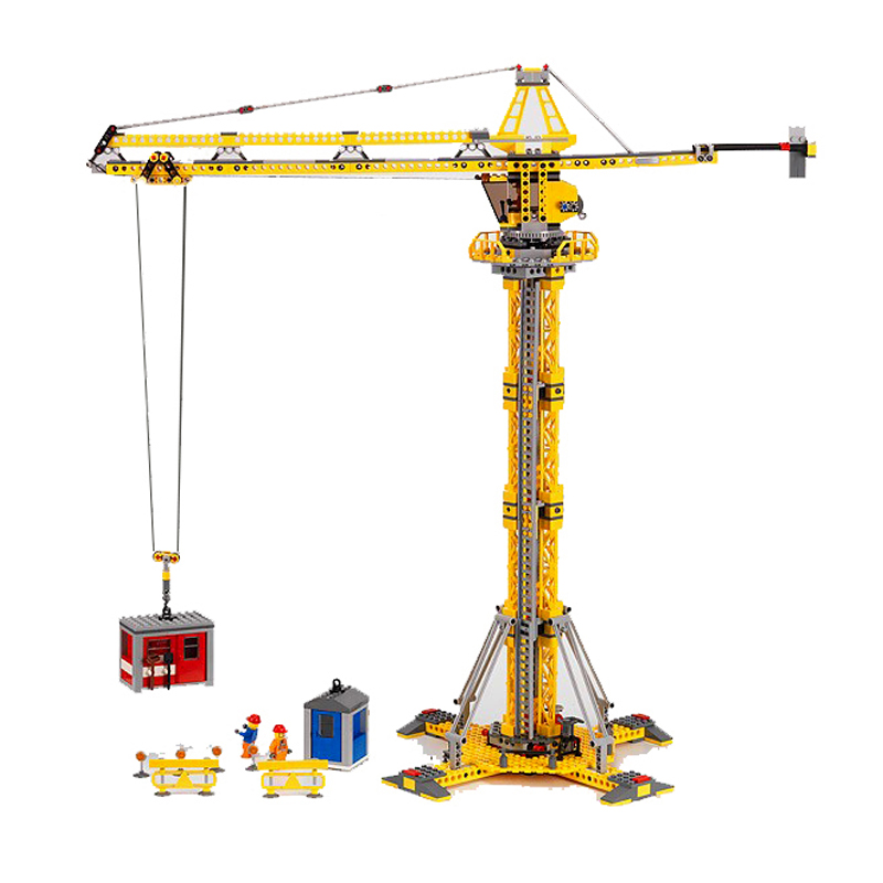 Lepin 02069 City Series the Building Crane Set 7905 Building Blocks Bricks City Lifting Machine Children Toys Xmas Gift Legoings lepin 02006 815pcs city police series the prison island set building blocks bricks educational toys for children gift legoings