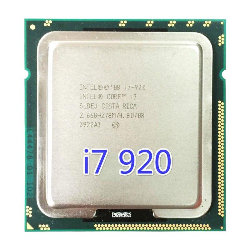 Процессор Intel Core i7 920 8 МБ кэш, 2,66 ГГц, 4,80 GT/s Intel QPI LGA1366 настольный процессор i7-920 ЦП