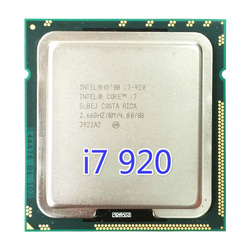 Intel Core i7 920 Processore 8 M Cache, 2.66 GHz, 4.80 GT/s Intel QPI LGA1366 Desktop CPU i7-920 cpu