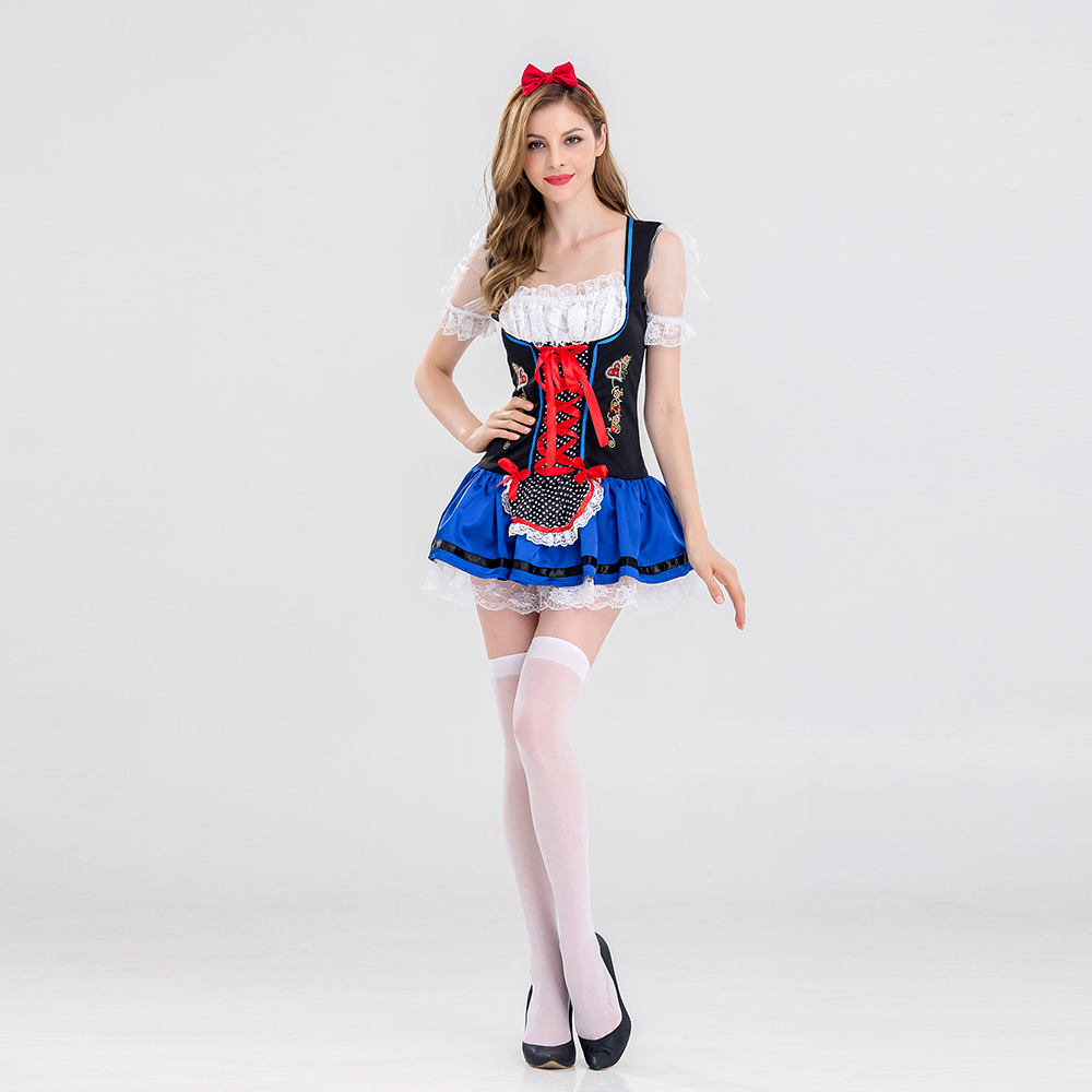 VASHEJIANG Ladies Oktoberfest Beer Maid Costumes Adult Wench Germany Bavarian Beer Gilr Cosplay Sexy Halloween Carnaval costumes