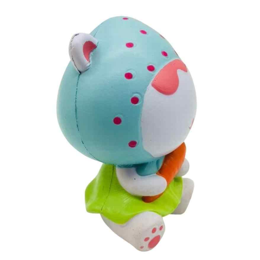 Anti-juguetes blandos antiestrés de lento aumento Kawaii dedo fresa chica helado Animal Jumbo correa de teléfono juguete de apretón de blandos t313