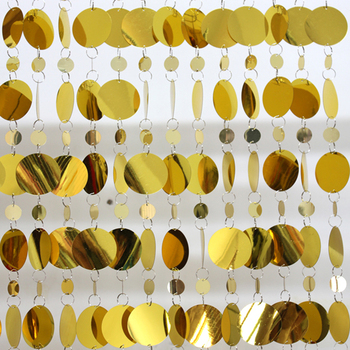 Festive party background ornaments gold sequin curtains  Grand Event stage decoration supplies wedding scene layout