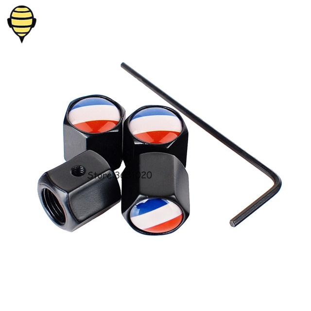 Car Accessories Auto Wheel Tire Valve Stem Caps for French Flag for ...