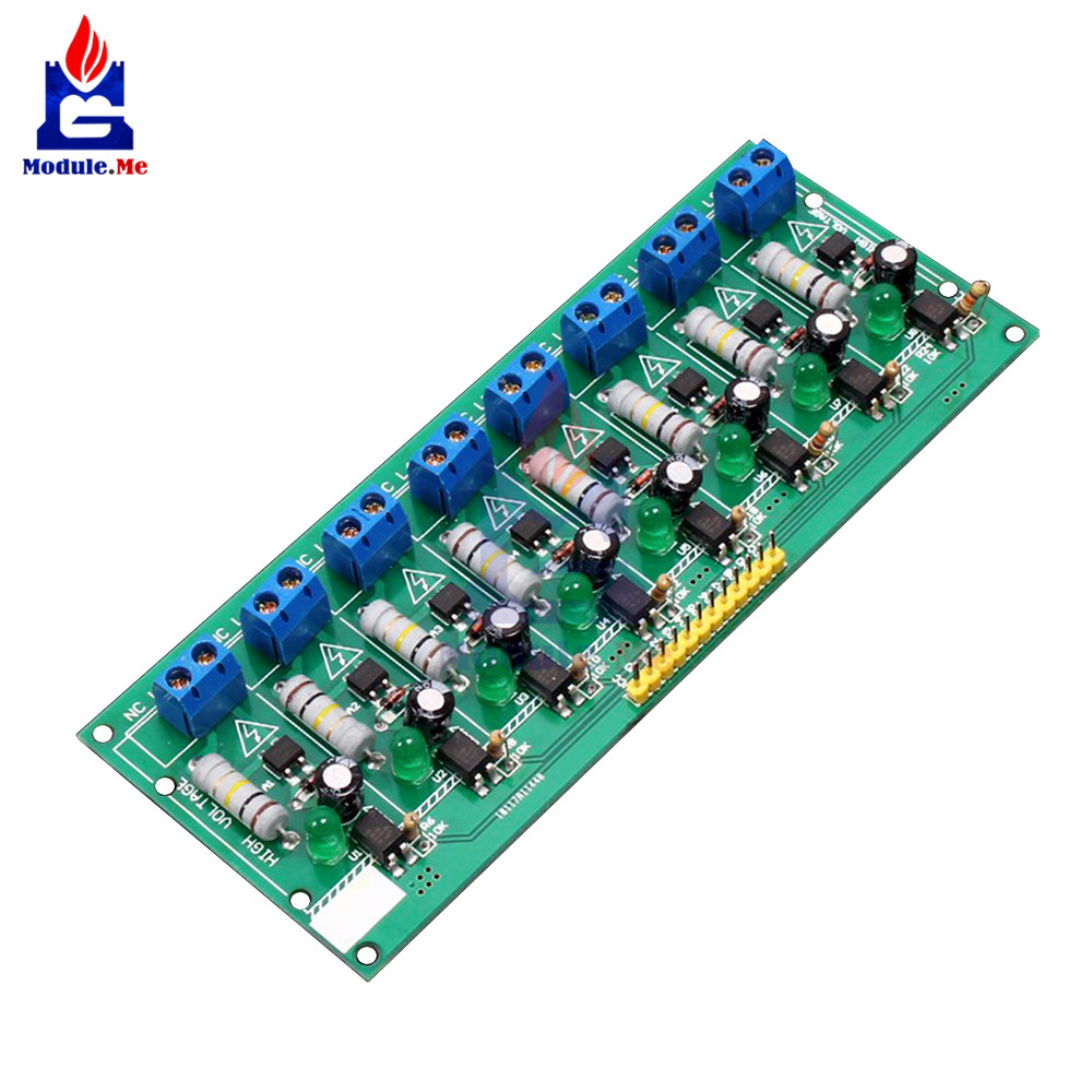 AC 220V 8 Channel MCU TTL Level 8 Ch Optocoupler Isolation Test Board Isolated Detection Tester Module PLC ProcessorsAC 220V 8 Channel MCU TTL Level 8 Ch Optocoupler Isolation Test Board Isolated Detection Tester Module PLC Processors