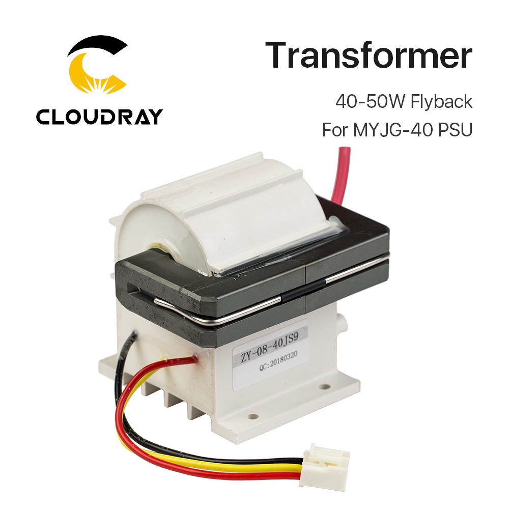 40-50W High Voltage Flyback Transformer for CO2 Laser Power Supply PSU MYJG-40 50