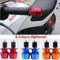 """6 Colores Opcionales Nueva Universal 2x Calabaza Forma CNC de Aluminio de 22mm 7/8 """"la Mano de la motocicleta Bar Ends Motocicleta Apretones de Manillar Ends"""
