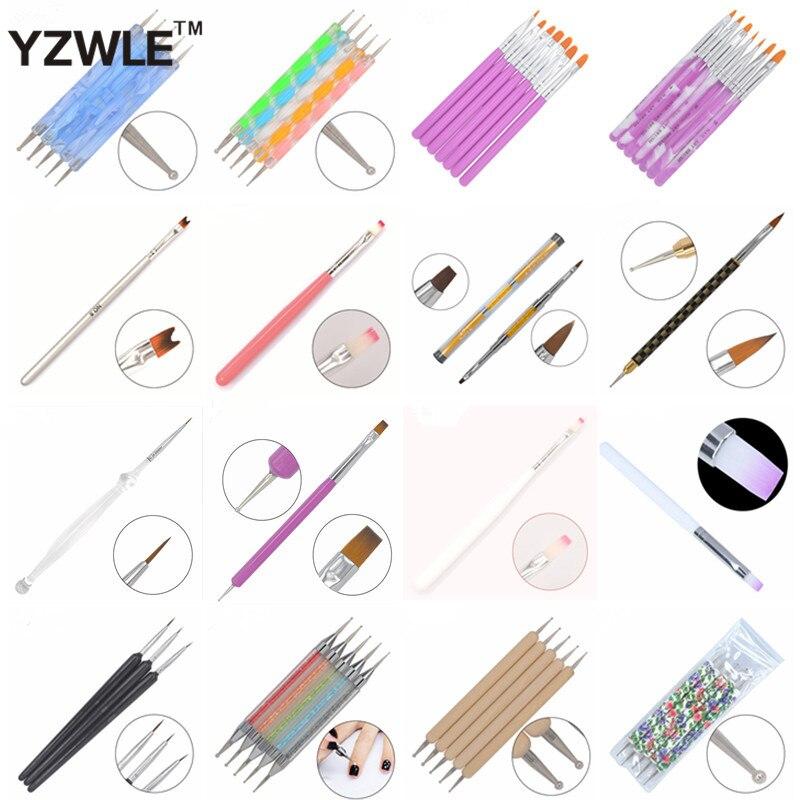①YWK 21 diferentes estilos DIY clavo arte acrílico UV Gel de diseño ...