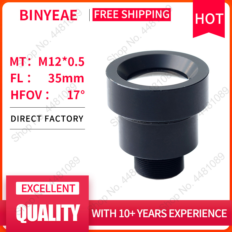 BINYEAE M12 LENS FL 35mm Pin hole lens for 1/2 CCD with  F2.0 Mini CCTV HD 2.0Megapixel Lens for security cameras lens